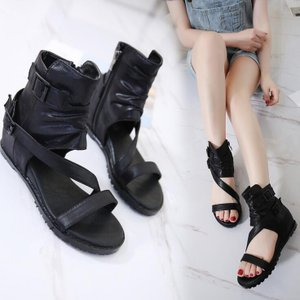 ブーツサンダル サマーブーツ 疲れない靴 オシャレサンダル オープントゥ ブーツサンダル フラットシューズ 美脚 ブーツ レディース靴 ブーツ 痛くない靴 kingcity-shjp