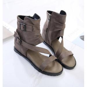 ブーツサンダル サマーブーツ 疲れない靴 オシャレサンダル オープントゥ ブーツサンダル フラットシューズ 美脚 ブーツ レディース靴 ブーツ 痛くない靴 kingcity-shjp 05
