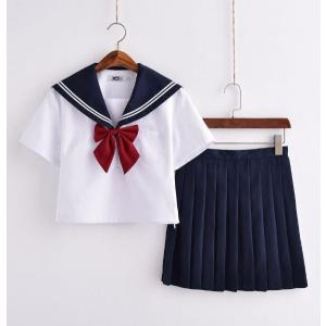 セーラー服 半袖 学生服コスチューム ブラウス 女子高生 制服 上下セット 3点セット ミニスカート シャツ コスチューム コスプレ 大きいサイズ ブレザー|kingcity-shjp