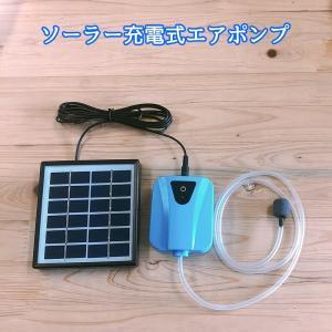 ソーラー充電式エアポンプ 酸素 池ポンプ 水槽用###ソーラーTYN-ZYB###|kingdom-sp