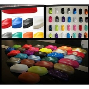 自動車塗装 カーシェイプ ディスプレイモデル 30個 塗装サンプル 展示会 コンパクトサイズ 11cm|kinggarage