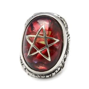 ALEX STREETER(アレックスストリーター)  ANGEL HEART RING CLACK RED エンジェルハートリング クラック赤 ALR371C RED|kingsroad