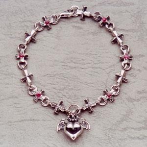 Barbara(バーバラ) ブレスレット Barbara Iron Cross Bracelet (6stones) PB-B-304|kingsroad