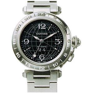 カルティエ CARTIER パシャCメリディアン GMT W31049M7 ブラック 生産終了 ビッグデイト ボーイズ 35mm kingsroad