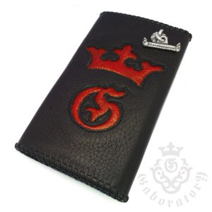 Gaboratory(ガボラトリー) Buffalo skin with red frog wallet (G&Crown) / Frog002 バッファロースキンレザーウォレット|kingsroad