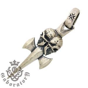Gaboratory(ガボラトリー) Double skull dagger ダブルスカルダガーペンダント【トップのみ】 【予約注文】|kingsroad