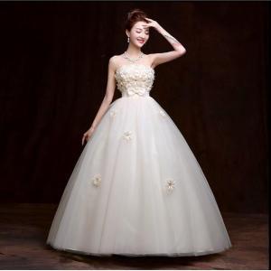 ウェディングドレス カラードレス 二次会 花嫁 ロングドレス エンパイア ビスチェドレス 結婚式 発表会 妊婦さんもOK 花嫁ドレス ホワイト&シャンパン 2色|kingyu-jpshop