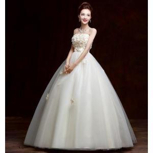 ウェディングドレス カラードレス 二次会 花嫁 ロングドレス エンパイア ビスチェドレス 結婚式 発表会 妊婦さんもOK 花嫁ドレス ホワイト&シャンパン 2色|kingyu-jpshop|05