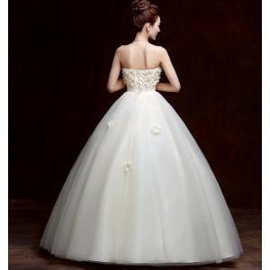 ウェディングドレス カラードレス 二次会 花嫁 ロングドレス エンパイア ビスチェドレス 結婚式 発表会 妊婦さんもOK 花嫁ドレス ホワイト&シャンパン 2色|kingyu-jpshop|06