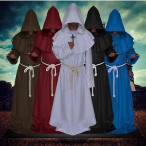 ハロウィン マント コスプレ 衣装 牧師 神父 修士 コスチューム マント 衣装 帽子付き 大人用 ハロウィーン 仮装 マント Halloween 変装 パーディー|kingyu-jpshop