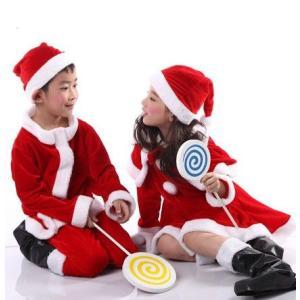 即納 送料無料 子供 サンタ服 コスプレ クリスマス コスチューム キッズサンタ衣装 子供用 サンタクロース服 コスプレ 男の子 女の子 ワンピース 110-150cm kingyu-jpshop