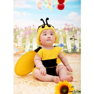 着ぐるみ 赤ちゃん服 ベビー服 新生児 ベビー ミツバチ 寝相アート コスプレ 赤ちゃん 男の子 女の子 子供 コスチューム 仮装 誕生記念 写真撮影用 出産祝い|kingyu-jpshop