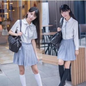 学生服 セーラー服 半袖 長袖 JK制服セット ホワイトブラ...