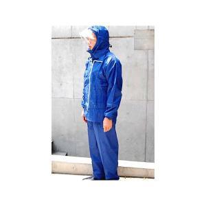レインスーツ まわるフードK-8000 キンカメハイデラスーツ サイズ3L-BEL|kinkame-yhs