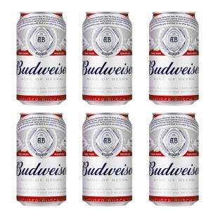 バドワイザー 350ml缶 6缶パック の商品画像