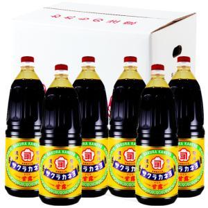 サクラカネヨ 濃口醤油 甘露 1.8L × 6本[吉村醸造/鹿児島] |kinko-alliq-syokuhin