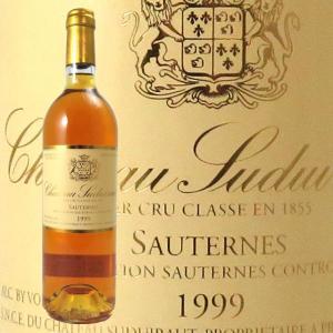 シャトー・スデュイロー 1999 750ml ソーテルヌ 貴腐ワイン 格付1級|kinko-wine