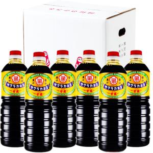 サクラカネヨ 濃口醤油 甘露 1000ml × 6本  吉村醸造/鹿児島 ケース買い あすつく