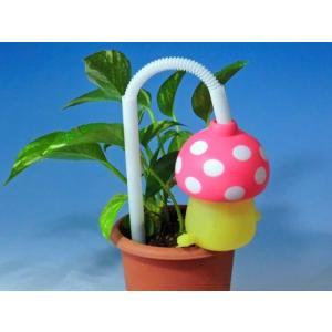 植木鉢の自動給水は給水きのこちゃんピンク1個|kinkobay