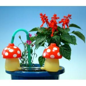 植木鉢の水やりに給水きのこちゃん赤2個セット|kinkobay