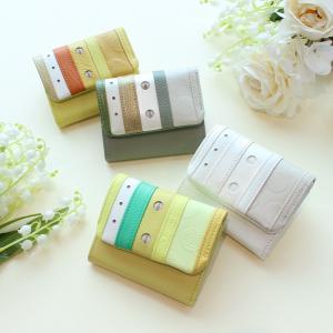 三つ折り財布 レディース 人気 極小財布 小さい財布 コインケース 革 プレゼント ギフト トレプチ・シャルロット|kinmokusei