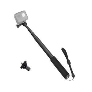 TKECAMアクションカメラ自撮り棒 セルカ棒 伸縮可能 超長 高所撮影 アルミ製 一脚 軽量 コン...