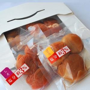 梅干し お試し梅干(240g)60g×4パック はちみつ梅としそ梅、塩分3%と8%の合計4種類がセットになったお買い得品 紀州南高梅 和歌山県産 うめぼし|kinokawa-ichiba|02