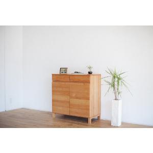 キャビネット/ナチュラル90 キッチン収納 収納 書棚 本|kinomama|05