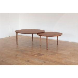 ローテーブル 座卓 センターテーブル/バルーン90-2[ウォールナット]|kinomama