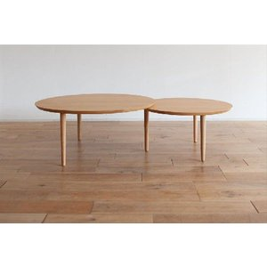 ローテーブル 座卓 センターテーブル/バルーン90-2[オーク]|kinomama