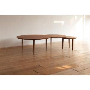 センターテーブル/バルーン90-3[ウォールナット]|kinomama