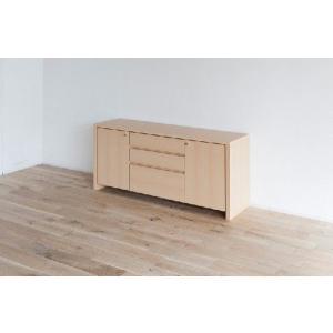 サイドボード/フォレ140 キッチン収納 収納 書棚 本棚 扉付|kinomama