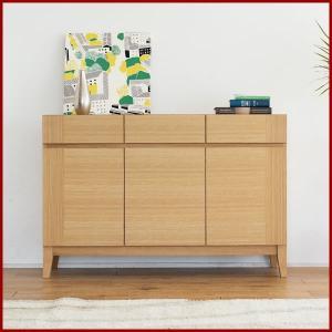 サイドボード カノーヴァ 120cm幅 ホワイトオーク キャビネット 書棚 本棚 リビング収納|kinomama