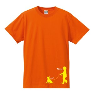 ゆうパケット発送対応商品★アニマルシルエットTシャツ 「チワワとお散歩」 可愛いチワワとお散歩に出かけたけど… kinomi