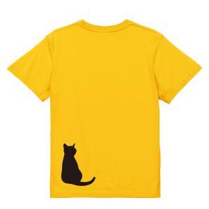 猫シルエットTシャツ 「ネコの後ろ姿」 メンズ レディース プレゼント★ゆうパケット発送対応 kinomi