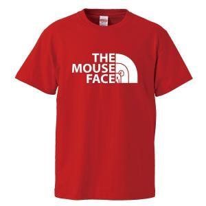 (ゆうパケット対応)おもしろキッズTシャツ 「THE MOUSE FACE」 ジュニアサイズの半袖Tシャツ kinomi