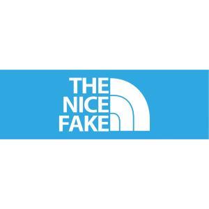 THE NICE FAKE おもしろステッカー(横タイプ) パロディ ジョーク 【ゆうパケット対応】|kinomi