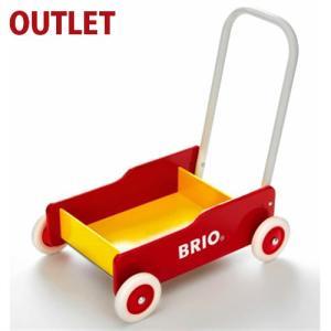 【20%OFF アウトレット品 キッズ】ブリオ/BRIO 歩行器 手押し車(赤) 木のおもちゃ|kinoomocha