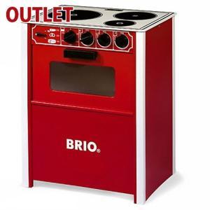 25%OFF アウトレット品 ままごとキッチン 木製 ブリオ BRIO レンジ/赤 数量限定品