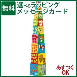 知育玩具 スタッキングDJECO ジェコ 10マイフレンドブロックス ブロック遊び-P|kinoomocha