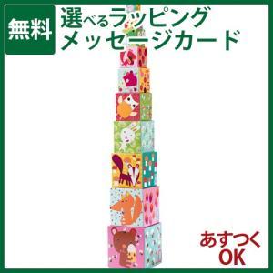 知育玩具 スタッキングDJECO ジェコ 10フォーレストブロックス ブロック遊び-P|kinoomocha