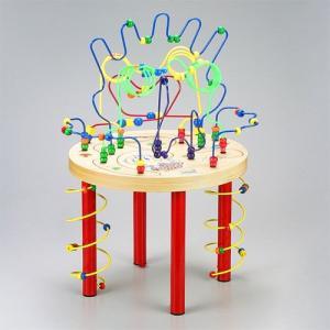 木のおもちゃ educo エデュコ スパゲッティレッグテーブル|kinoomocha