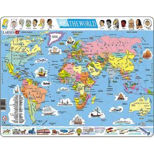 パズル LARSEN ラーセン 世界地図