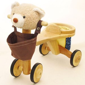 出産祝い お誕生日プレゼントに人気 乗用玩具 jun-collection アニマルバイク クマ kinoomocha