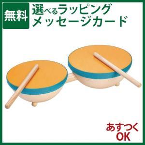 プラントイの木のおもちゃ Plantoys ダブルドラム 楽器玩具 お誕生日 節句 入園 卒園 入学-P kinoomocha