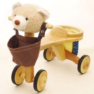 乗用玩具 出産祝い お誕生日プレゼントに人気 jun-collection アニマルバイク クマ kinoomocha