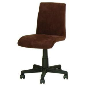 デスクチェア イス 椅子 背もたれ 布張り ポリエステル キャスター ガス圧 EDC-200 ダークブラウン色 kinositakagu