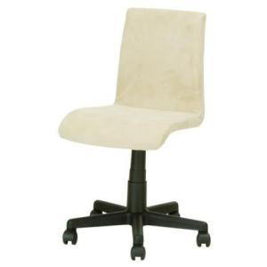 デスクチェア イス 椅子 背もたれ 布張り ポリエステル キャスター ガス圧 EDC-201 ベージュ色 kinositakagu