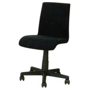 デスクチェア イス 椅子 背もたれ 布張り ポリエステル キャスター ガス圧 EDC-209 ブラック色 kinositakagu