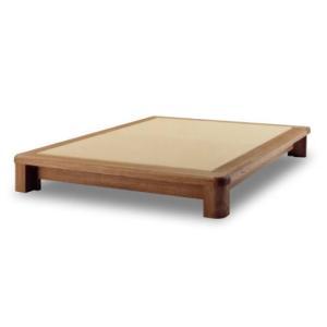 ベッド ベット 畳ベッド 【団】 RRタイプ ヘッドレスト無し セミダブルサイズ シンプル 和紙畳 フレーム 天然木 タモ 自然塗料仕上げ 国産 日本製|kinositakagu
